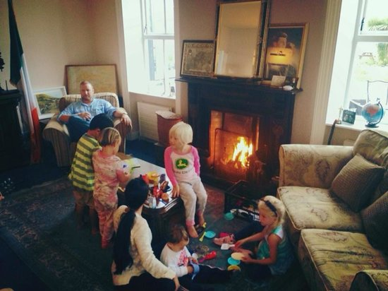 Milltown House: Our family before bed