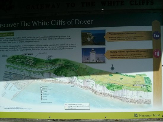 White Cliffs of Dover: plan