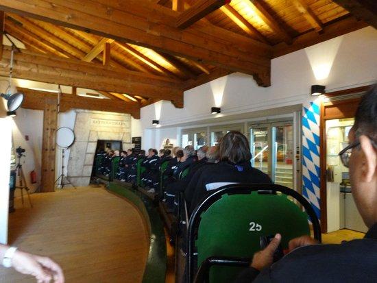 Berchtesgaden Salt Mines : The train ride starts here