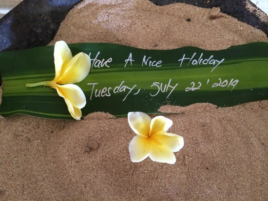 Grand Mirage Resort and Thalasso Bali: Lovely welcoming touches around the hotel