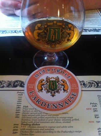 Restaurant Metropole : Beer at Brasserie de Metropole
