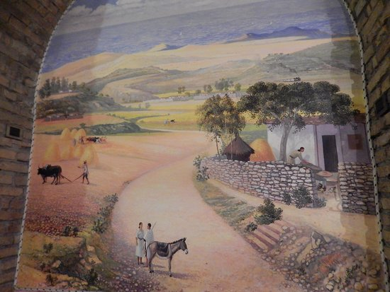 asmara - affresco parete