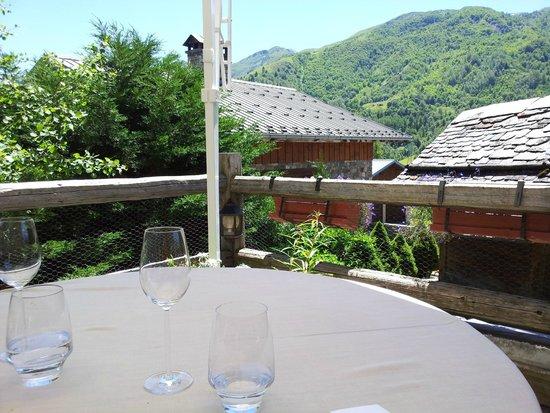 La Bouitte : terrasse