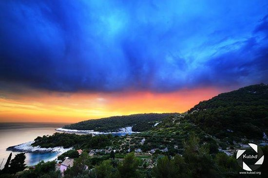 Apartments Marija Magdalena: View from Lavender room just after a storm