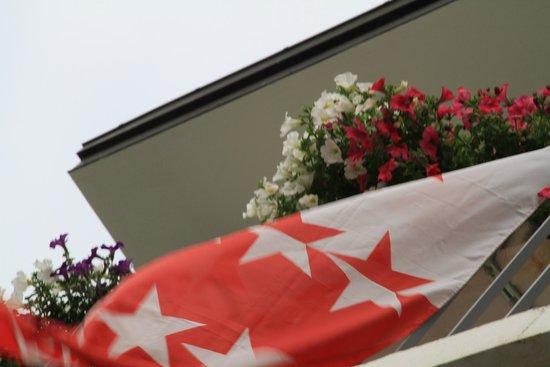 Hotel-Restaurant du Stand: Balcon fleuri