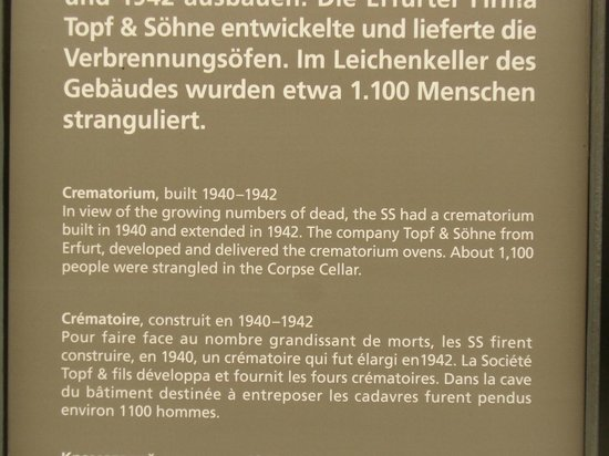 Buchenwald: Various descriptive boards