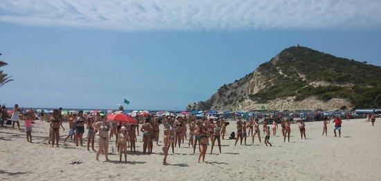 Cala Finestrat Beach : A local radio show was doing a beach dance-a-thon.