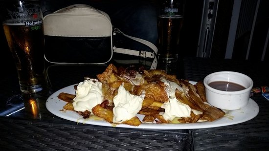 35 Degrees South Aquarium Restaurant & Bar: Potato skins yummy