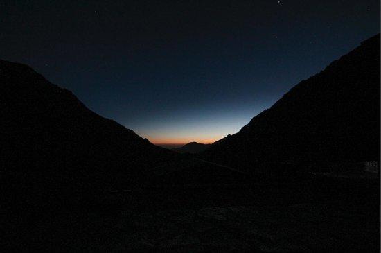 Mount Toubkal : Early morning at rifugio.