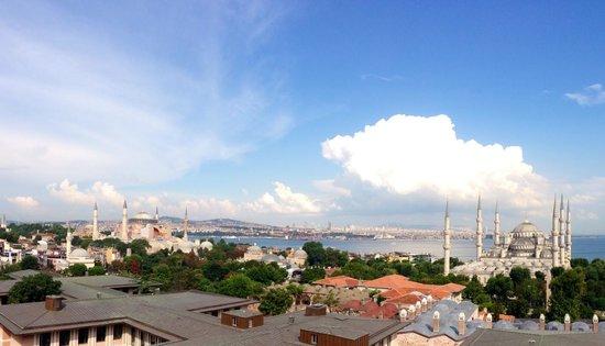 Hotel Arcadia Blue : Панорамный вид с террасы  ресторана 9 этаж