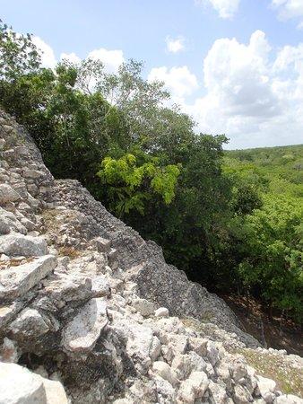 Coba Mayan Traditions: On the pyramid