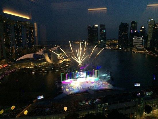 The Ritz-Carlton, Millenia Singapore: Singapore Birthday preparations, view from Marina Bay View @ the Ritz Carlton Millenia