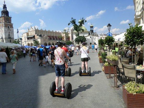 Segway Tours Krakow: thru the main square