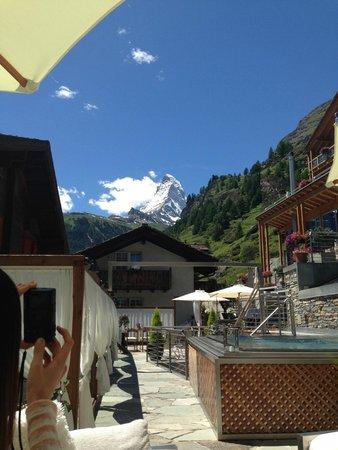 Coeur des Alpes: テラスからの眺め
