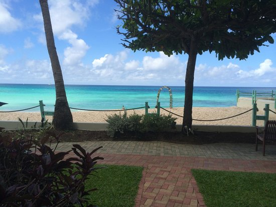 Coral Mist Beach Hotel: View from Room 105B