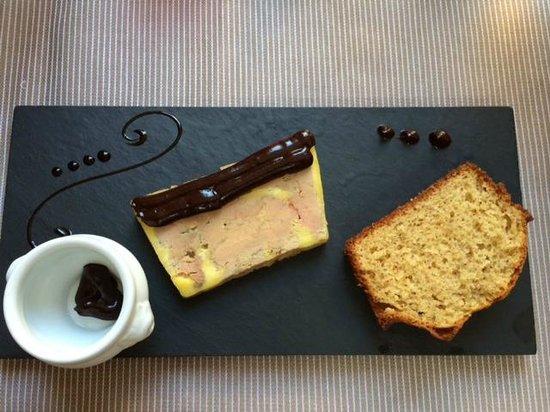 L'alexandre: Foie gras saveur aux 2 chocolats et pain d'épices
