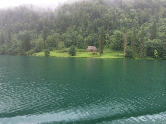Königssee: Another view from the boat of the clear water and beautiful surroundings