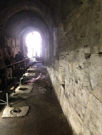 City Wonders : Elevator Shafts - underground to lift animals to the stage of the Colsseum