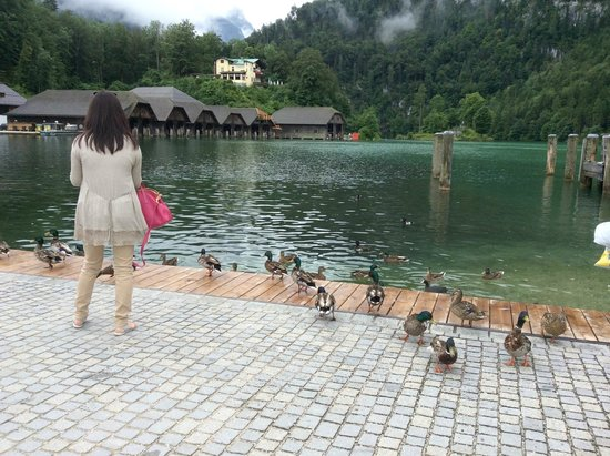 Königssee : At the starting point of the boat ride