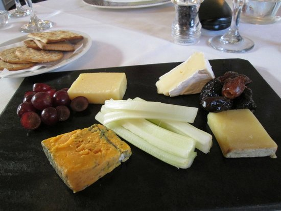 Branston Hall Hotel: Artisan Cheese Slate with Biscuits, Celery and Macerated Fruits