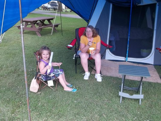 Old Mill Stream Campground: From the office store, freeze pop and ice cream.
