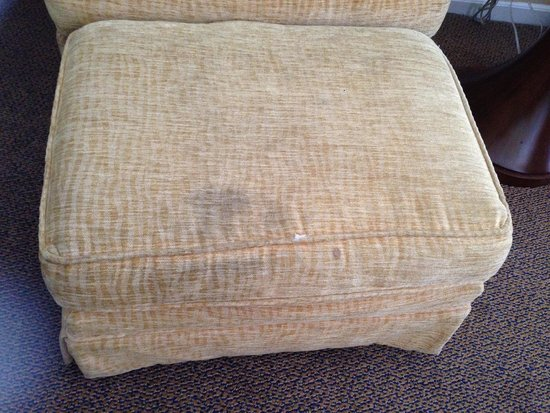 Danford's Hotel & Marina: stained ottoman