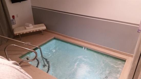 "Aqua Soleil Hotel & Mineral Water Spa : The private ""Mineral"" pool in our room ( it smelled to much of Chlorine)"