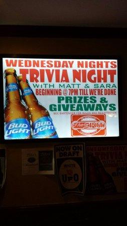 Spot Cafe & Restaurant: Wednesday trivia nights!