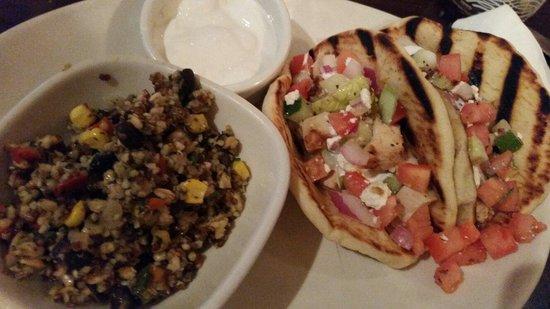 Mediterranean chicken pita tacos - Picture of Bj's Pizza ...