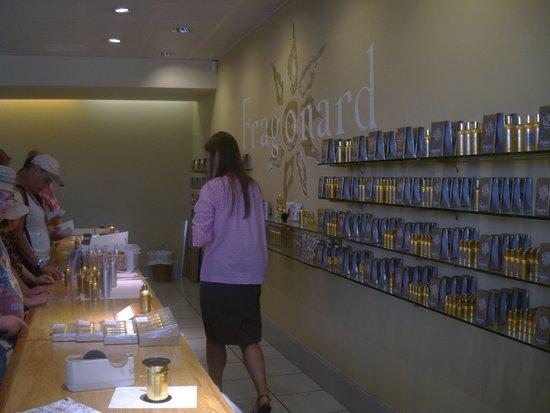 Parfumerie Fragonard : fin de la visite où on peut acheter en direct