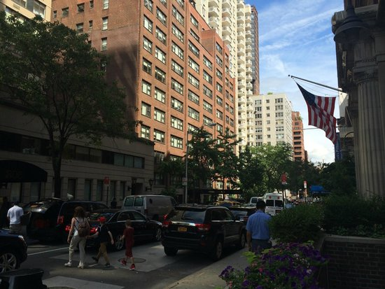 Gardens NYC–an Affinia hotel: View of Hotel from the end of the street