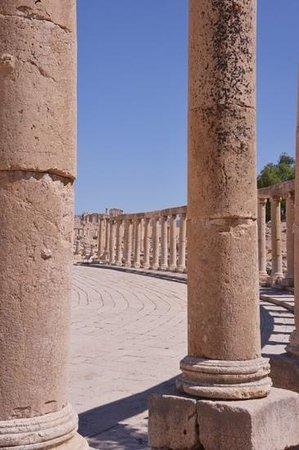 Ruinas de Jerash: jerash pillars