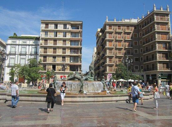 Plaza de la Virgen: Фонтан