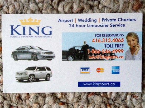 King Tours : Business Card