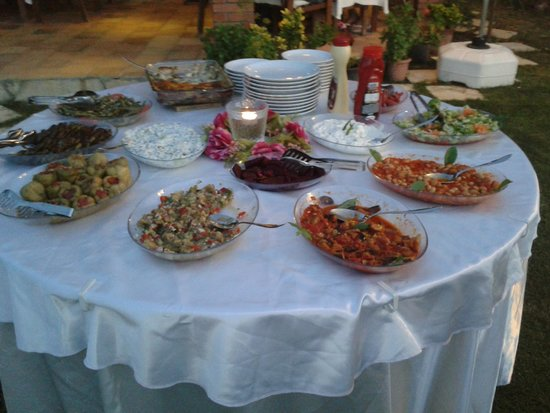 Crescent Hasirci Hotel: Nermin's pre-barbecue meze.