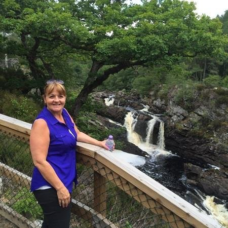 Falls of Rogie: The Lady and the Falls