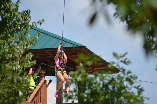 Kersey Valley Zip Line : Madison on the Zip Line