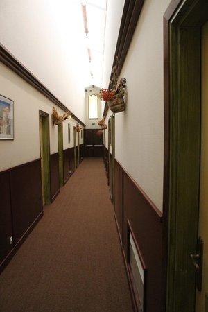 Hotel Le Vieil Amandier: Corredor onde ficam os quartos do hotel