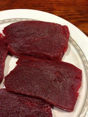 Meson Las Lanzas: Solomillo de atun rojo