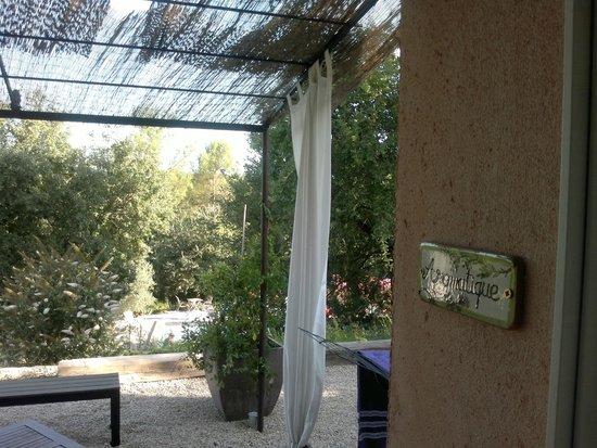 Lavandaline : Vue de la terrasse