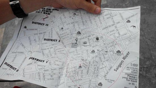 Minh Chau Hotel: Карта ХоШиМина