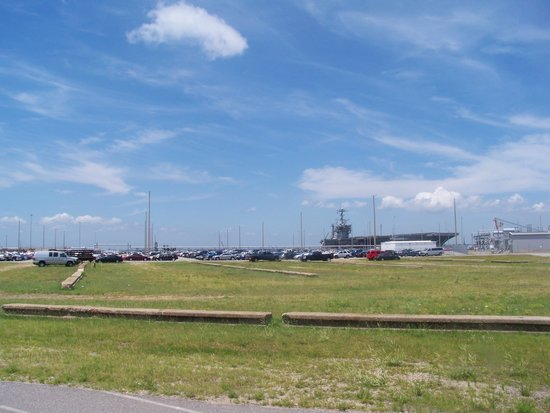 Naval Station Norfolk: Ships From a Distance