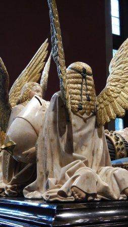 Musée des Beaux-arts de Dijon : Particolare della capigliatura di un angelo