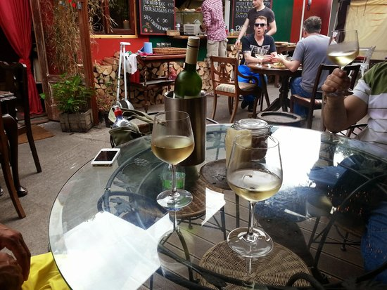 The Dog House Blues Tea Room: white wine