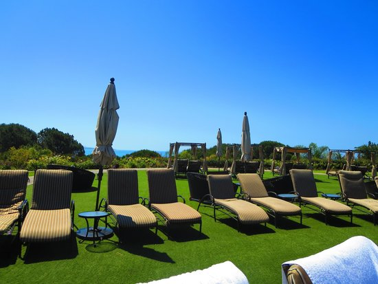 Laguna Cliffs Marriott Resort & Spa: view of the ocean and the super comfy chairs by the pool.