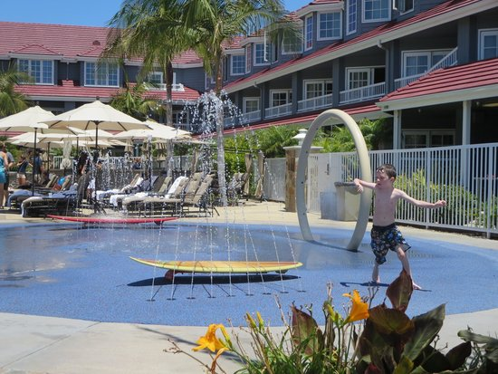 Laguna Cliffs Marriott Resort & Spa: My kids loved the splash pad.  They could have stayed here all day.