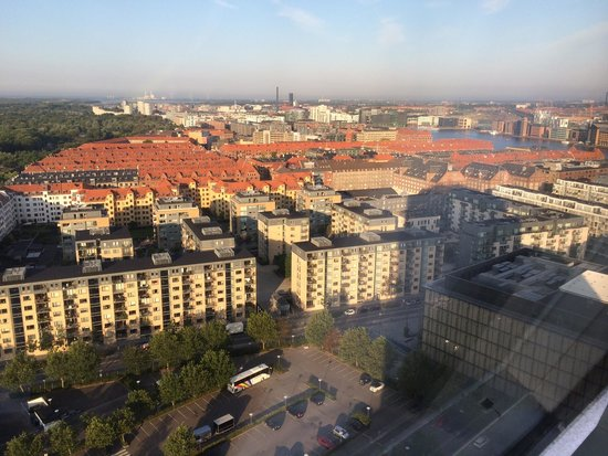 Radisson Blu Scandinavia Hotel, Copenhagen : View from 2427!!