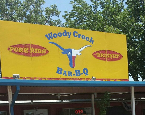 woody creek chat 32 reviews of woody creek bar-b-q wonderful place stopped by on a whim through springtown and was more than impressed we ordered half a pound of ribs, some brisket, green beans, cole slaw, and nana pudding we couldn't stop raving about this.