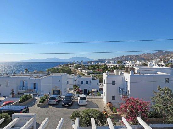 Adonis Hotel: Mykonos Harbor from hotel