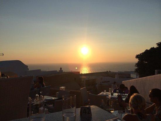 Ochre Restaurant: Por do sol